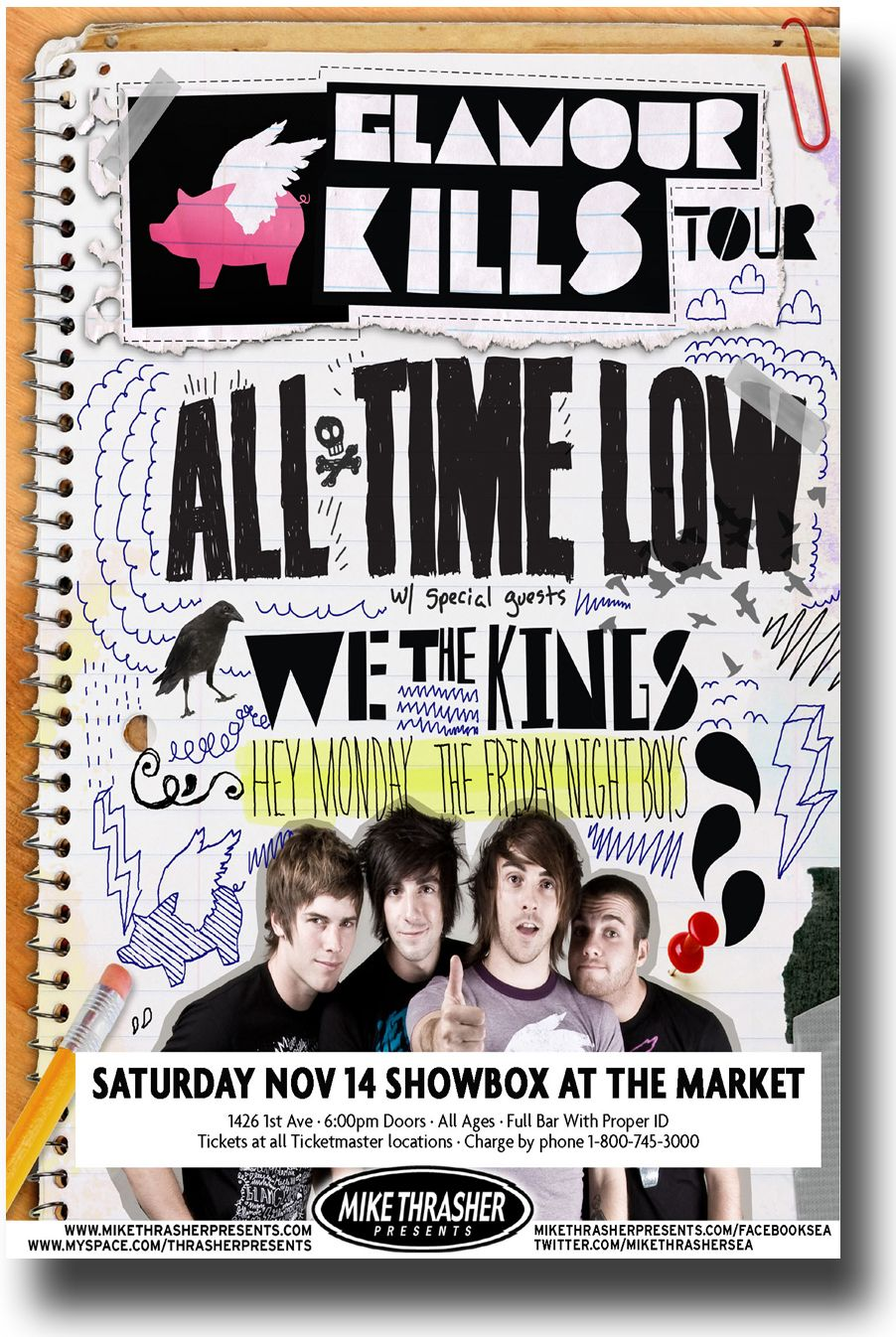 all time low poster all about time