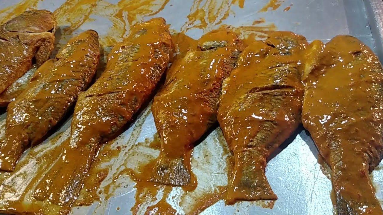Seafood Fish Fry Fried Fish At Street Food Karachi Pakistan Food Fried Fish Street Food