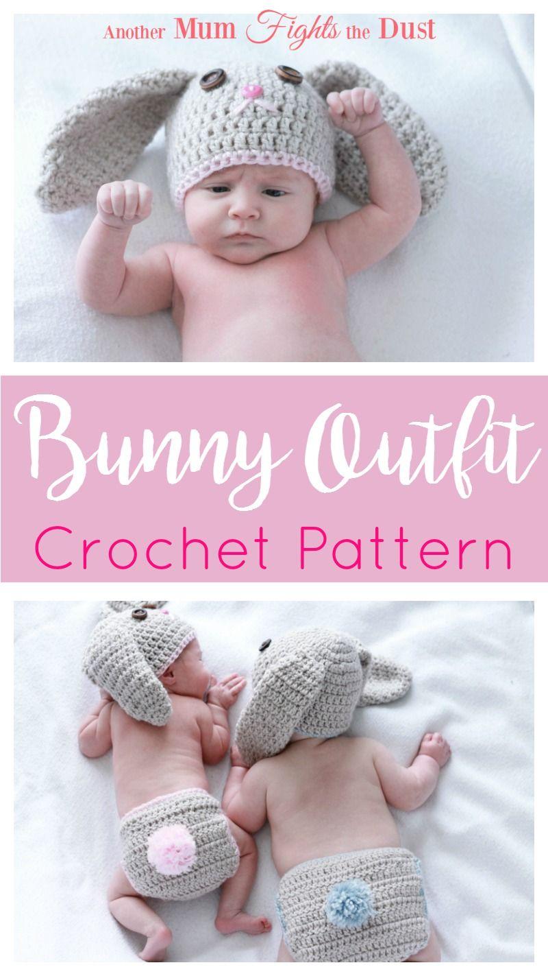 Crochet Bunny Outfit   Bunny outfit, Crochet bunny and Newborn photo ...