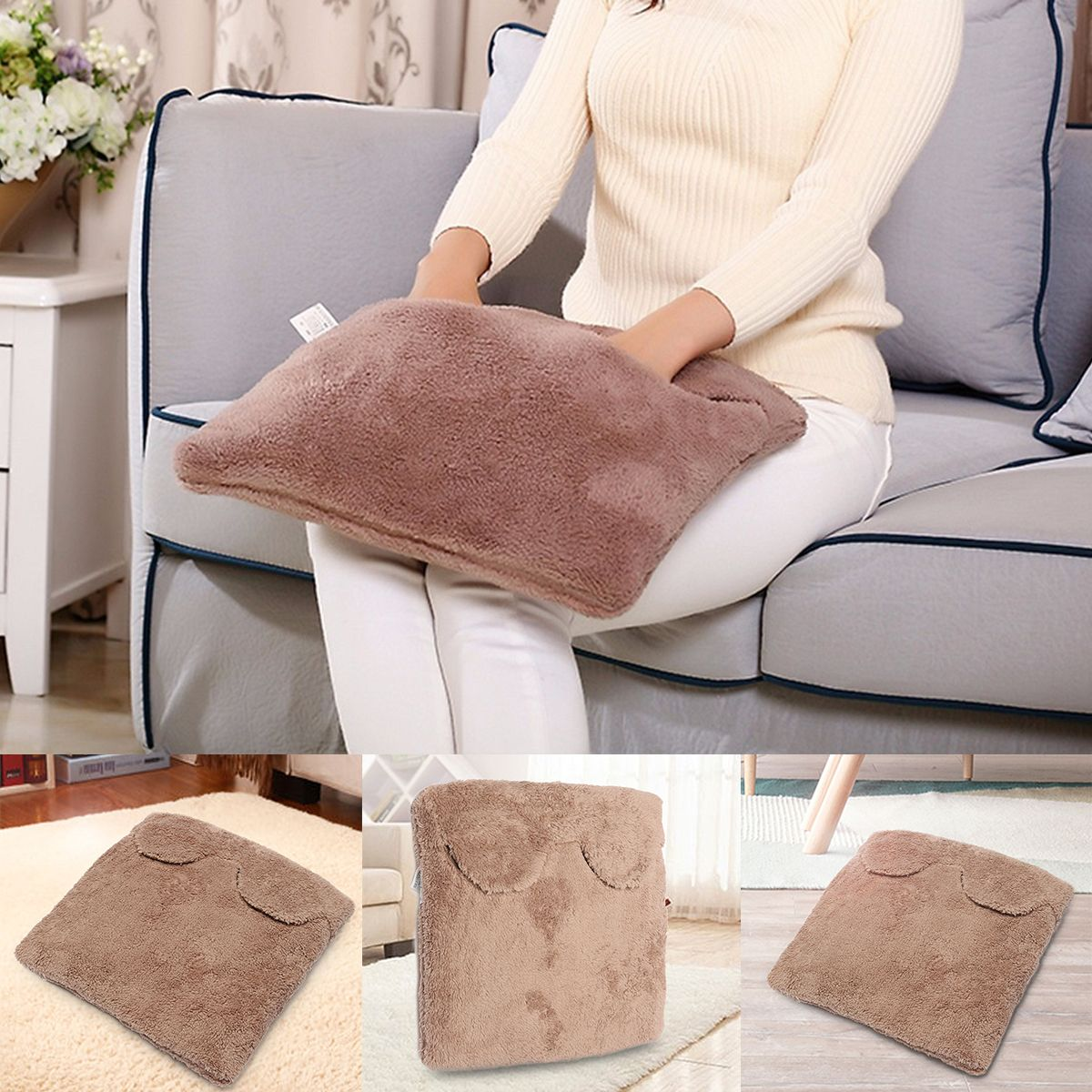 Electric Heated Pads Winter Feet Warming Slippers Heater Seats