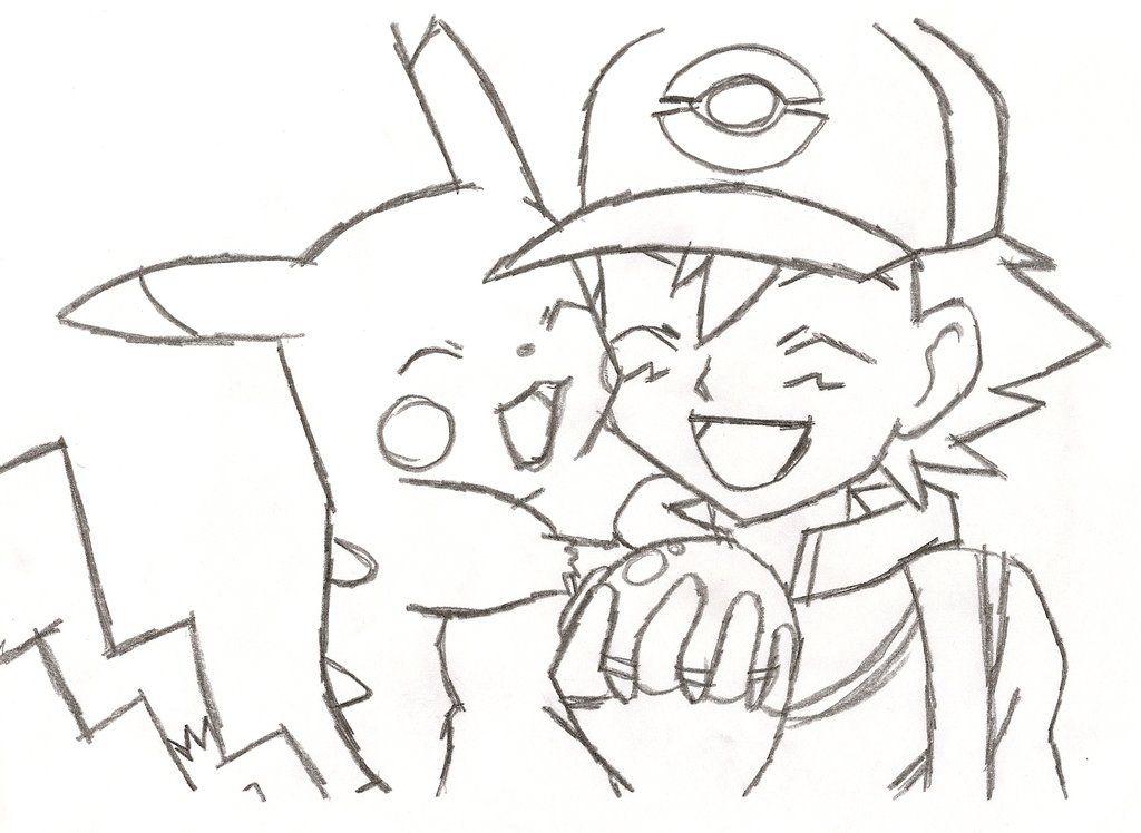 Pikachu And Ash Drawing Ash Drawing Drawing Inspiration Drawings