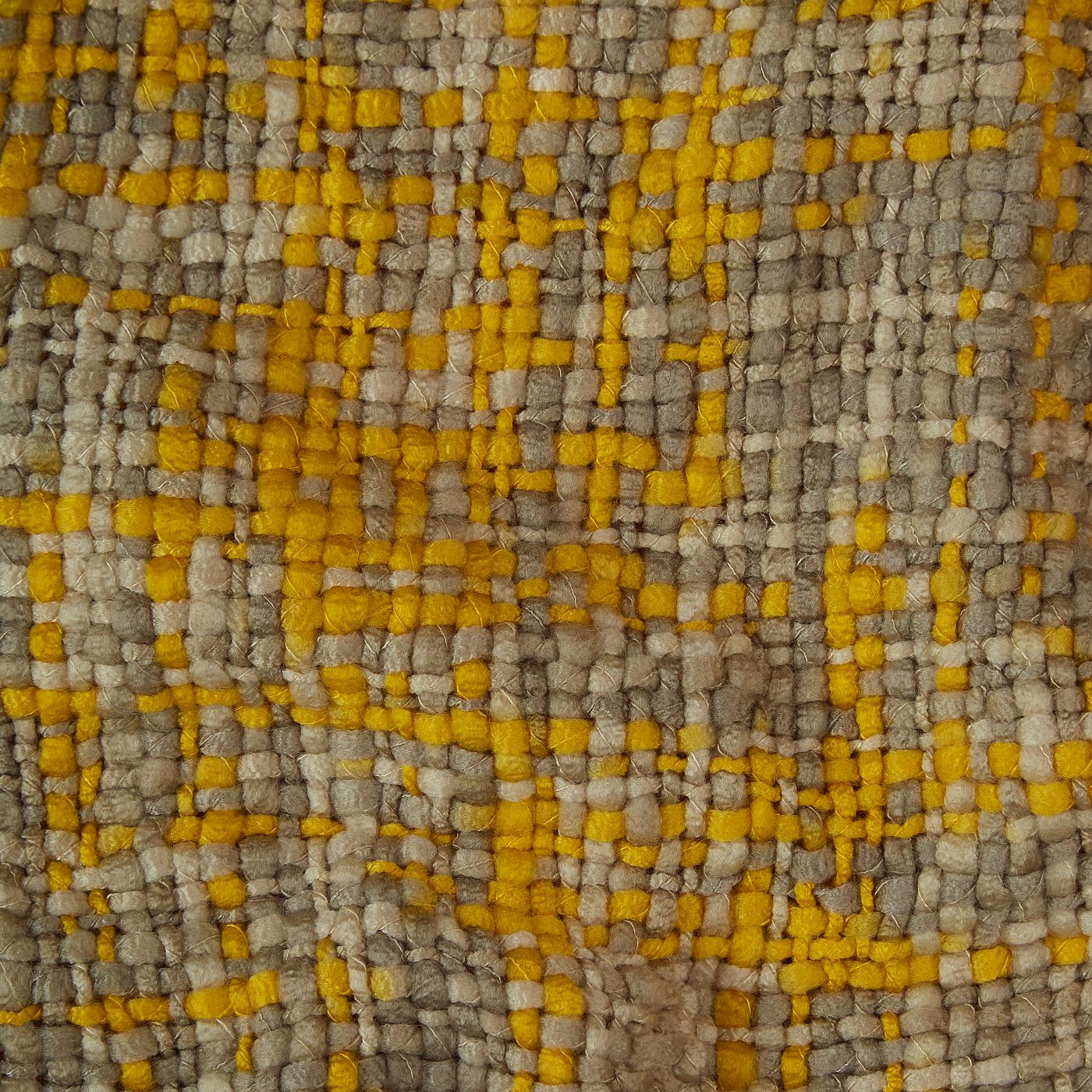 George Home Yellow and Grey Throw