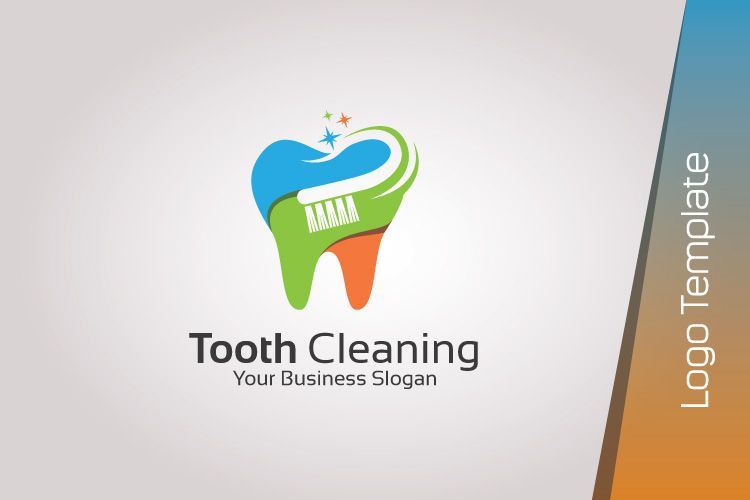 Dental Logo Template Tooth Cleaning Creative Logo Design