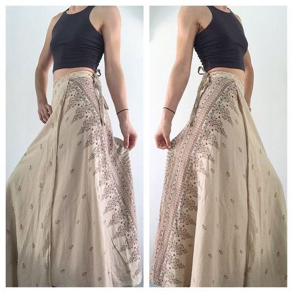 Sexy indian tribal boho wrap cotton maxi skirt | Beautiful, Cotton ...