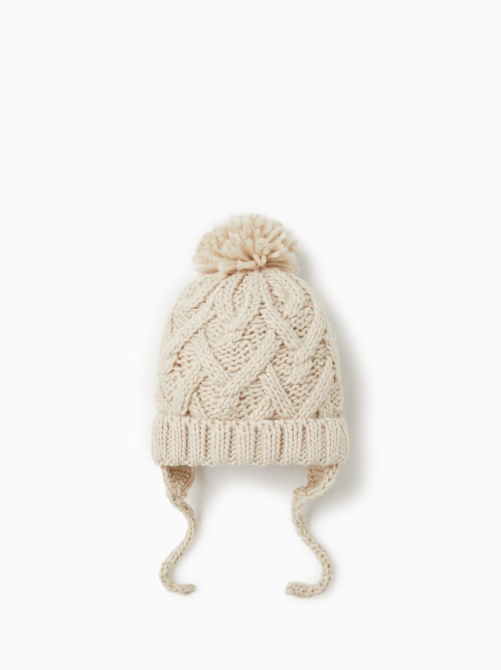Image 1 Of Cable Knit Hat From Zara Cable Knit Hat Toddler Girl Style Knitted Hats
