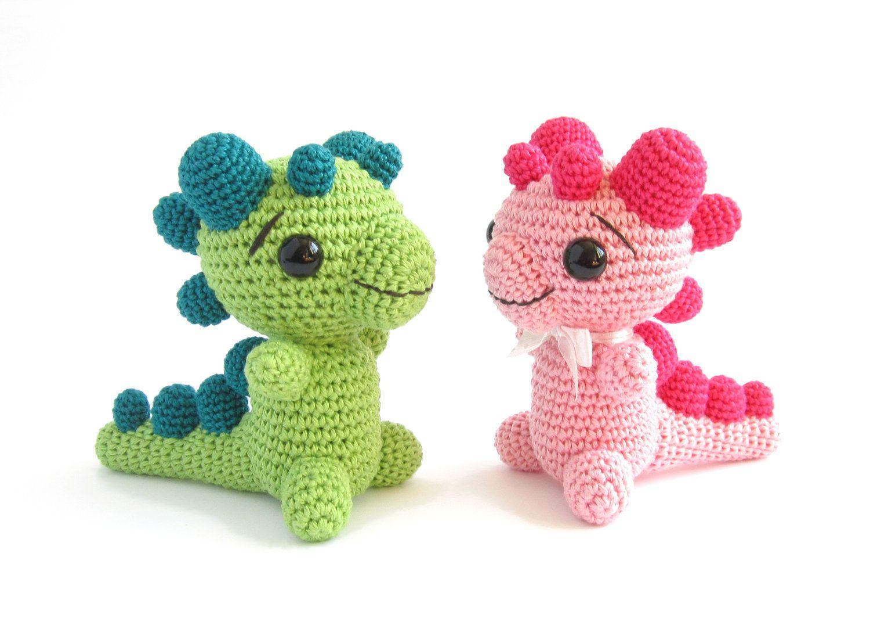 CROCHET PATTERN - Rattle - Baby Dragon - Amigurumi animal ...