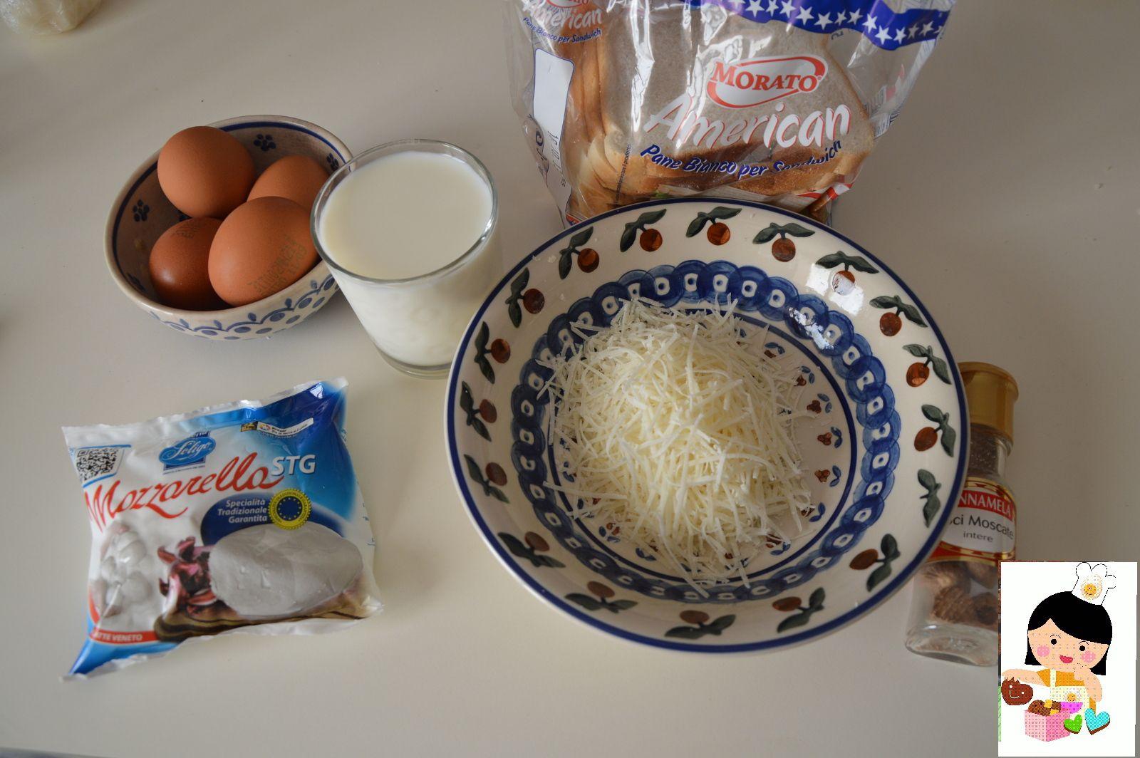 Tortino di Pan Carre' con zucchine