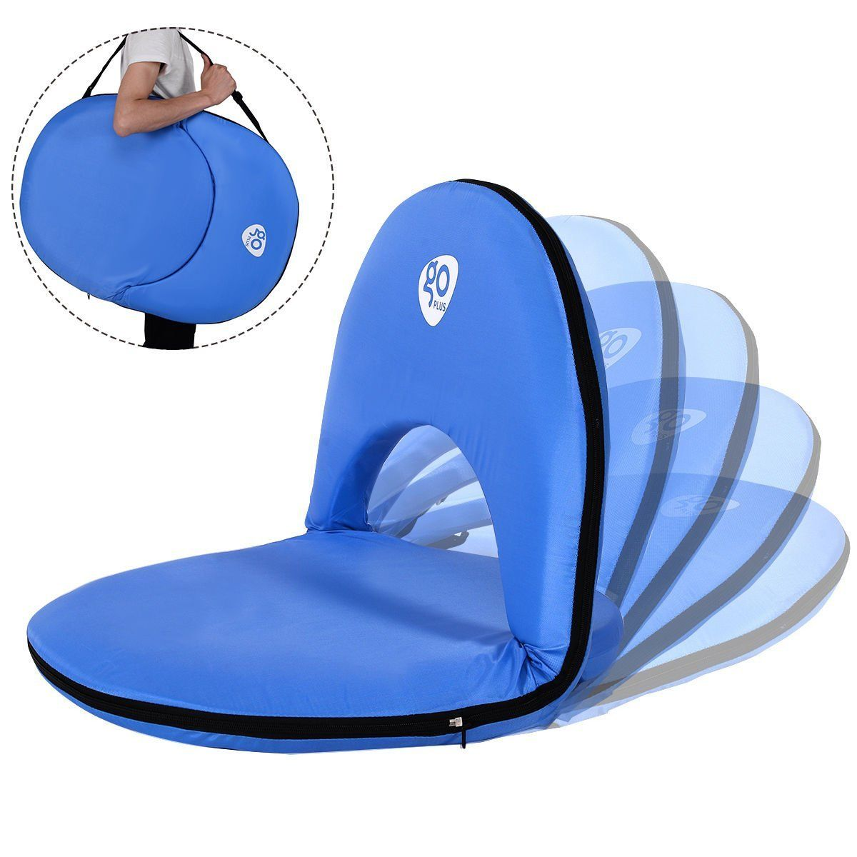 Amazon.com  Goplus Reclining Stadium Seat Multiuse Portable Padded Cushion Picnic Beach C&ing Chair  sc 1 st  Pinterest : reclining stadium seat - islam-shia.org