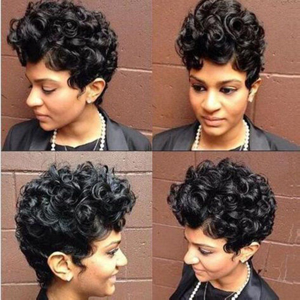 〖Follure〗Black Women Natural Sexy Short Wavy Curly