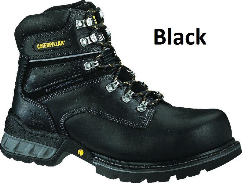 CATERPILLAR CAT FOUNDATION MENS STEEL TOE WORK/SAFETY BOOTS/SHOES DURABLE!