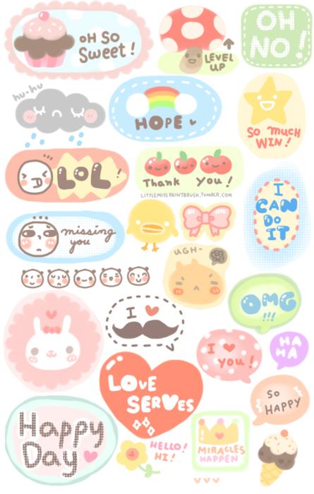 photo regarding Sticker Printable identify Small Pass up Paint Brush Lolita/kawaii things Printable