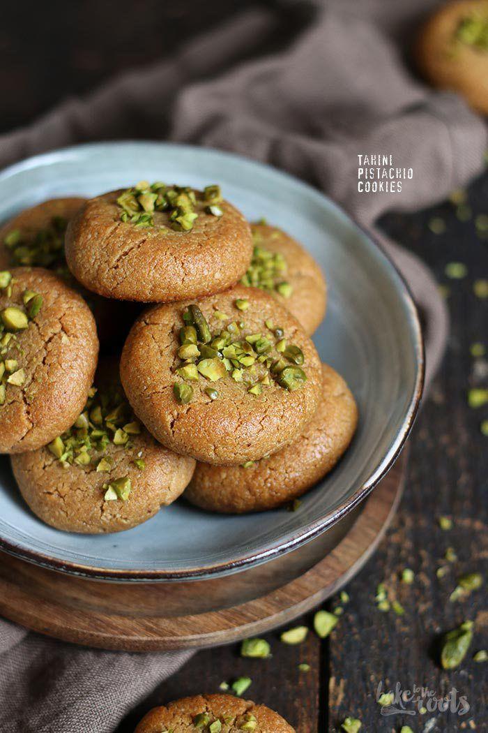 Tahini Pistazien Cookies