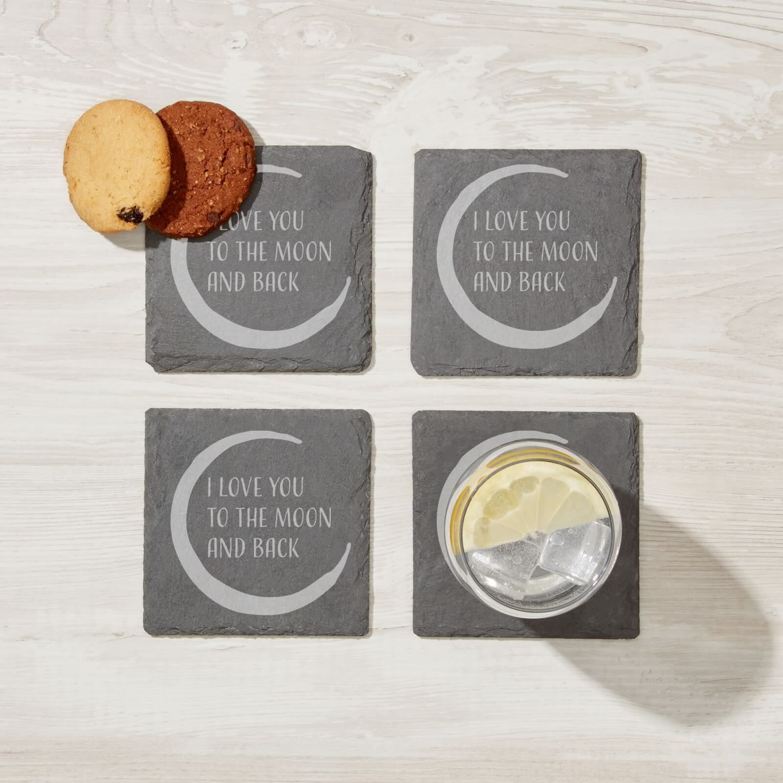 Add classic, rustic styling to your home with our incredible slate products. Designs range from cheeky, quirky and rude designs to inspiring art and slogans, so there is sure to be something for every home.These engraved slate coasters come in a pack of four with an intricate design. Dimensions: 10cm x 10cm. Weight: 134g
