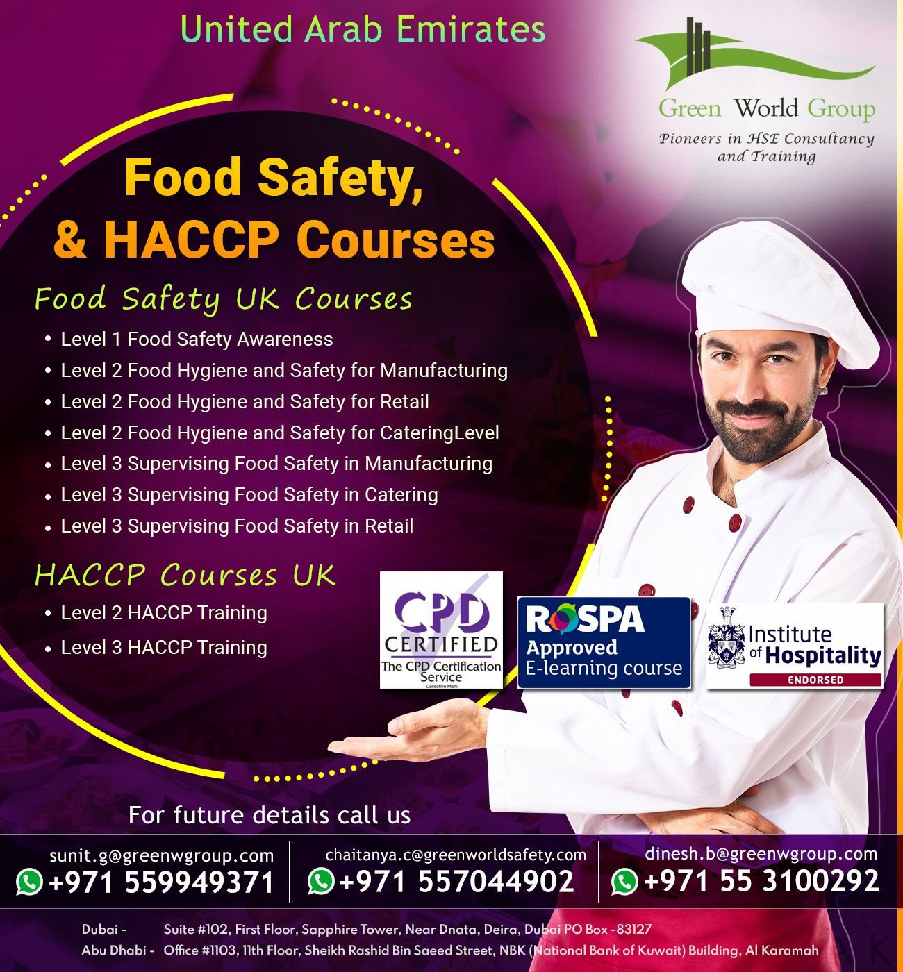 Join Food Safety, & HACCP Courses Live