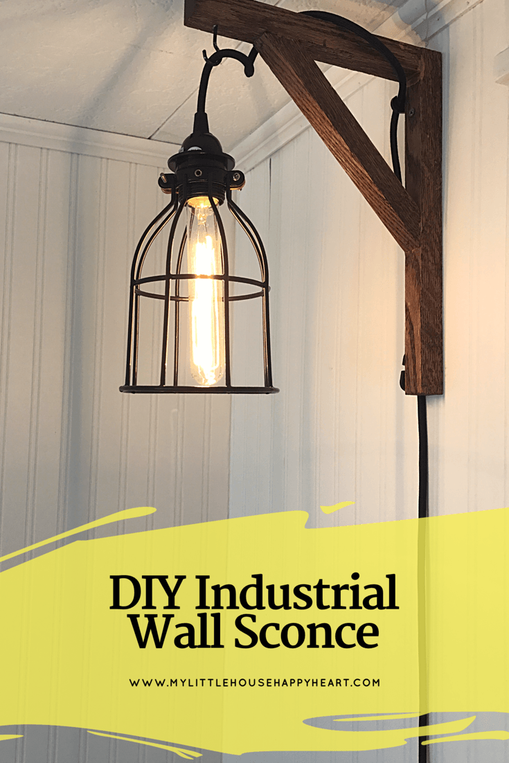 Hi Guys Check Out How I Made An Industrial Style Wall Sconce For