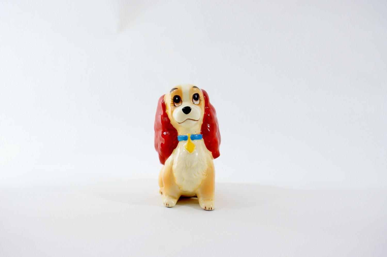 Lady Tramp Disney And Figurine Porcelain Ceramic Japan Vintage Figure Figurines Dog Walt Rare Statue by DoorCountyVintage on Etsy