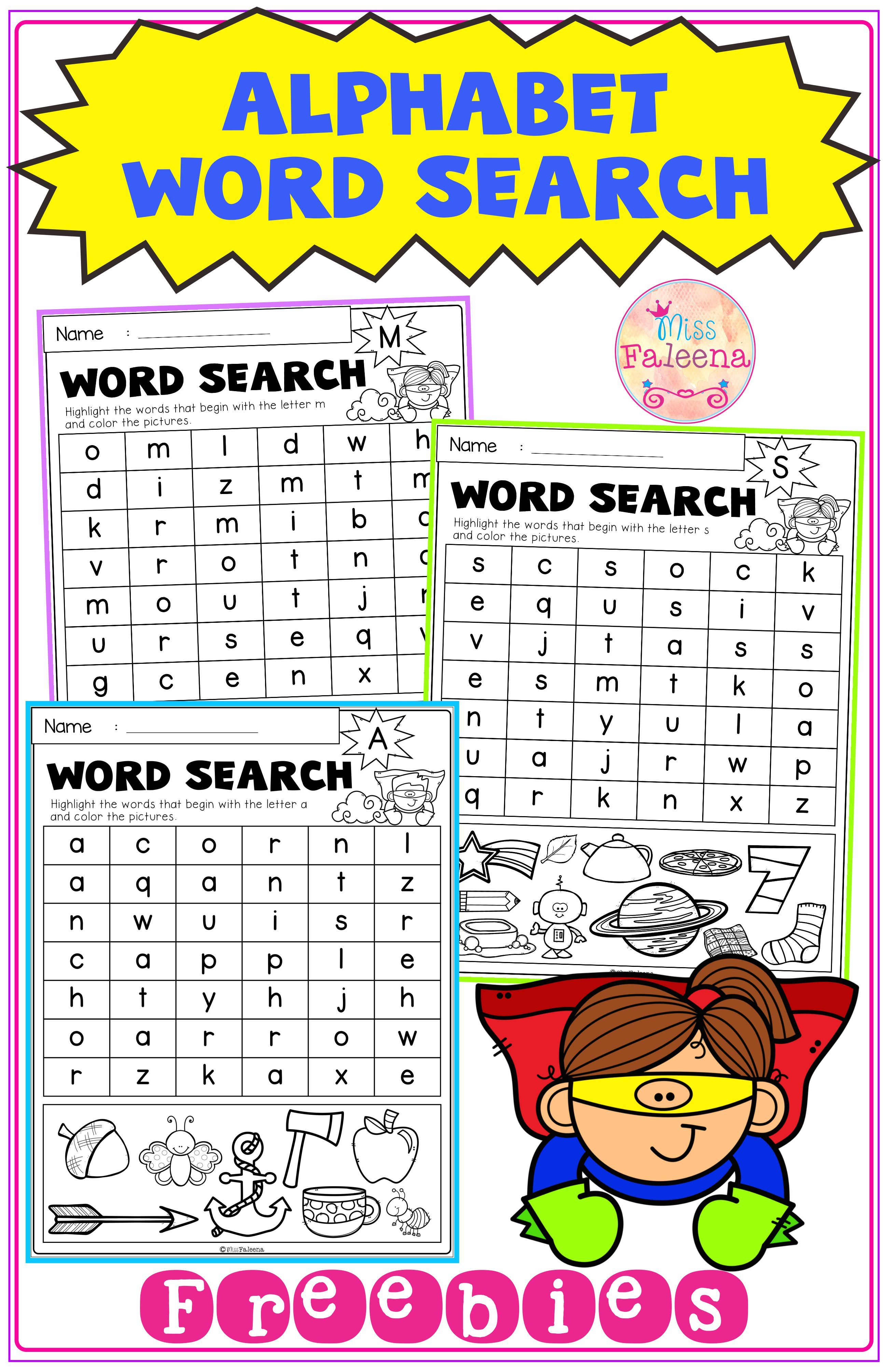 Free Alphabet Word Search