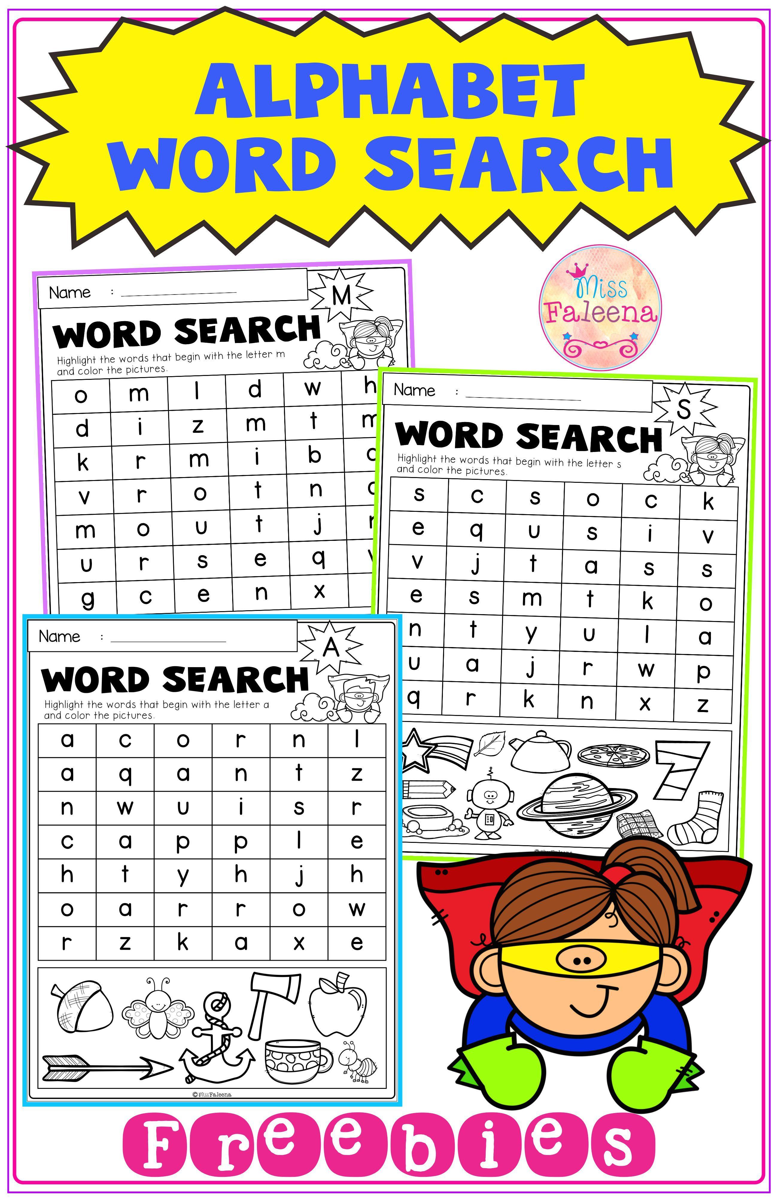 Free Alphabet Word Search