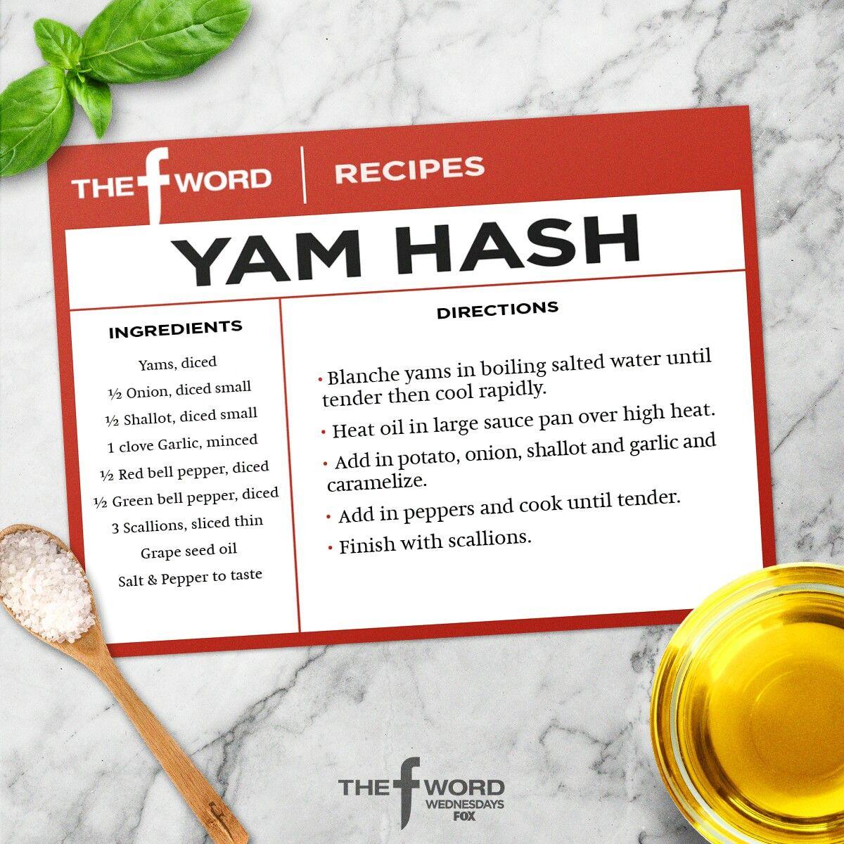 The F Word Yam Hash Gordon Ramsay Jen S Recipes In 2018