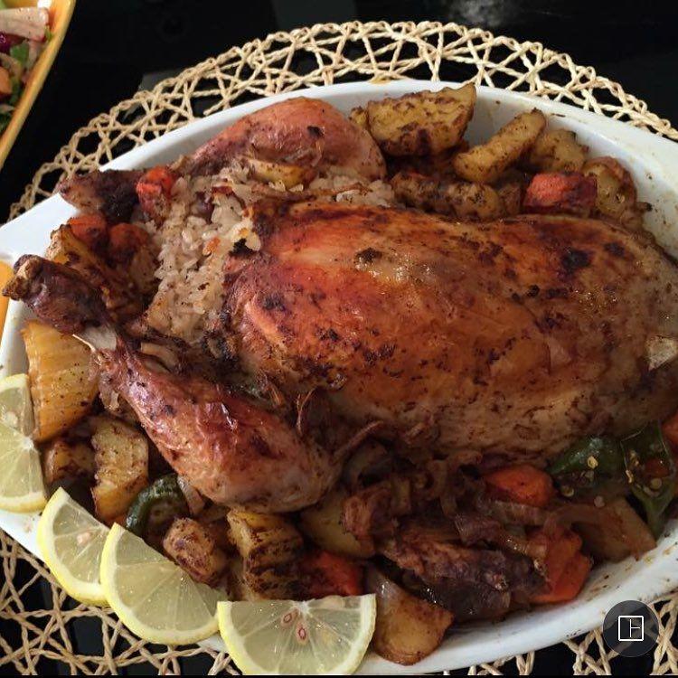 818 Likes 54 Comments Maysa Mohamed Recipes Maysa Mohamed Recipes On Instagram دجاج محشي بالفرن الدجاج المحشي اول شي بنغسل الدجاجة Recipes Lunch Food