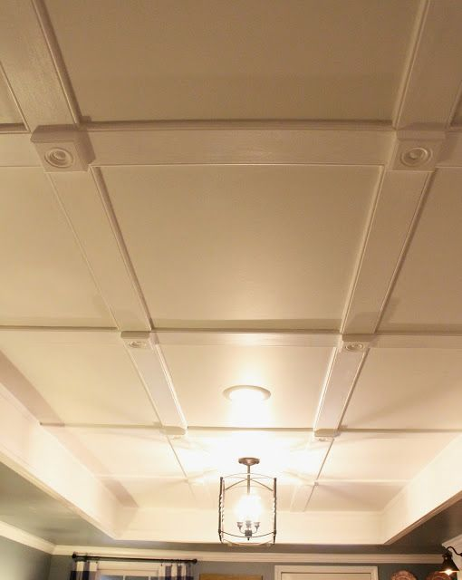Low Profile Coffered Ceiling Basement