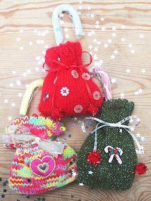 Christmas gift bags to knit - Christmas craft ideas - Craft -  allaboutyou.com - Christmas Gift Bags To Knit - Christmas Craft Ideas - Craft