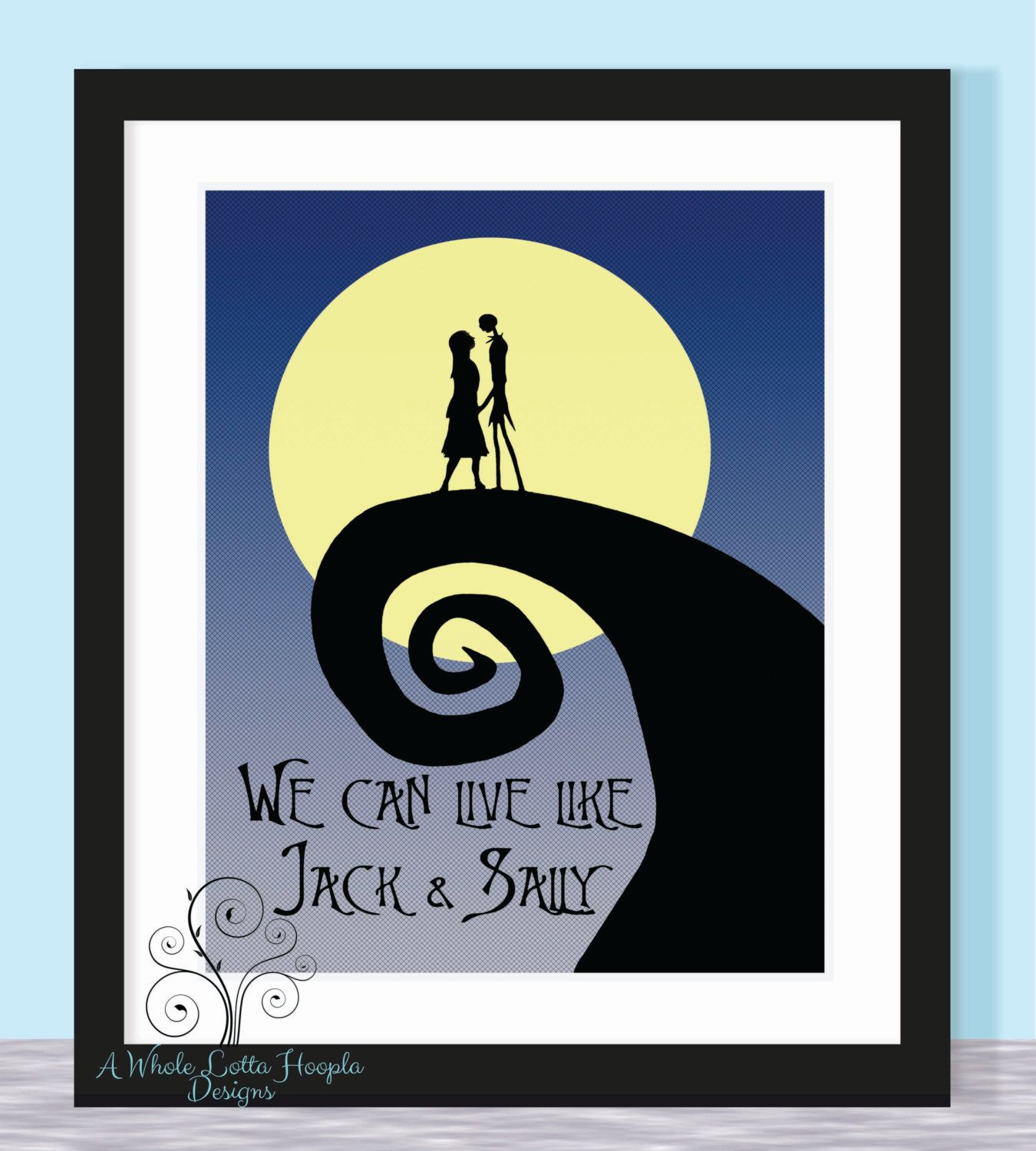 Disney Nightmare Before Christmas Quote by AWholeLottaHoopla, $14.00 ...
