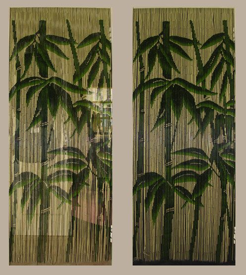 Beaded Curtains For Doorways By Day Bamboo Bead Curtains Are