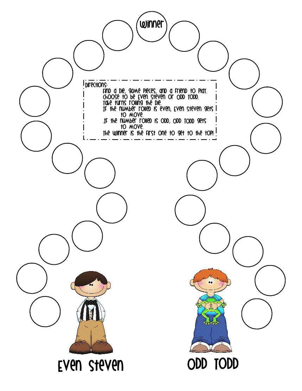 small resolution of First Grade a la Carte: even or odd   Math school
