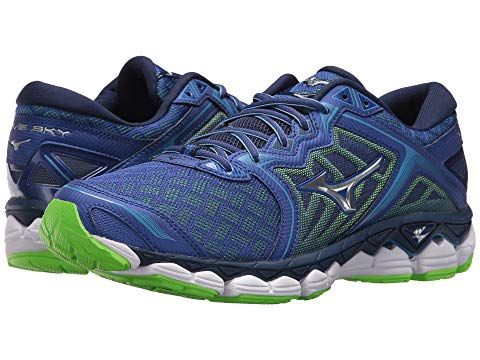 sale retailer 97671 07468 MIZUNO Wave Sky, SURF THE WEB SILVER GREEN GECKO.  mizuno  shoes