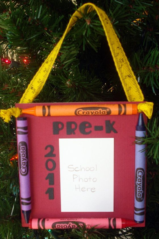 2011 Pre-K Crayon Keepsake School Photo Ornament ...