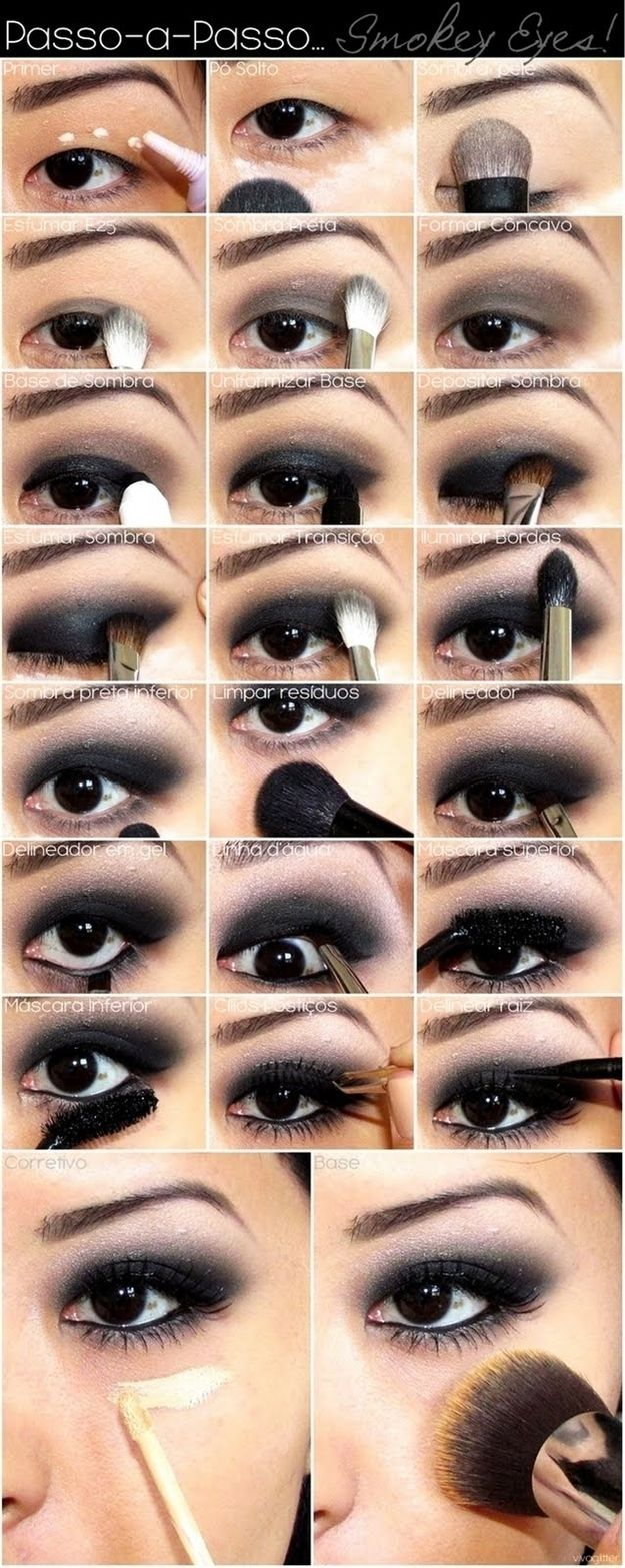 Go full on smokey eye 23 ways to up your makeup game for new the thing i get asked most about great tutorial this is a great pattern for many eye shapes black smoky eye makeup tutorial for asian eyes baditri Image collections