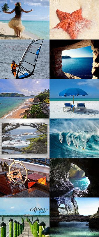 A Day at the Beach by Angelika on Etsy--Pinned with TreasuryPin.com