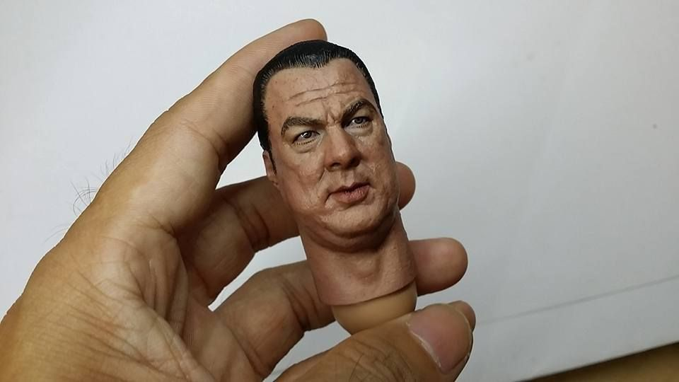 "1//6 Scale Custom Steven Seagal Resin Unpainted Head Sculpt for 12/"" figure use"