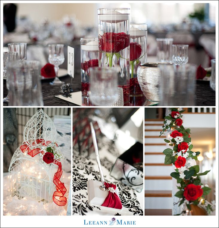 Red White And Black Weddings