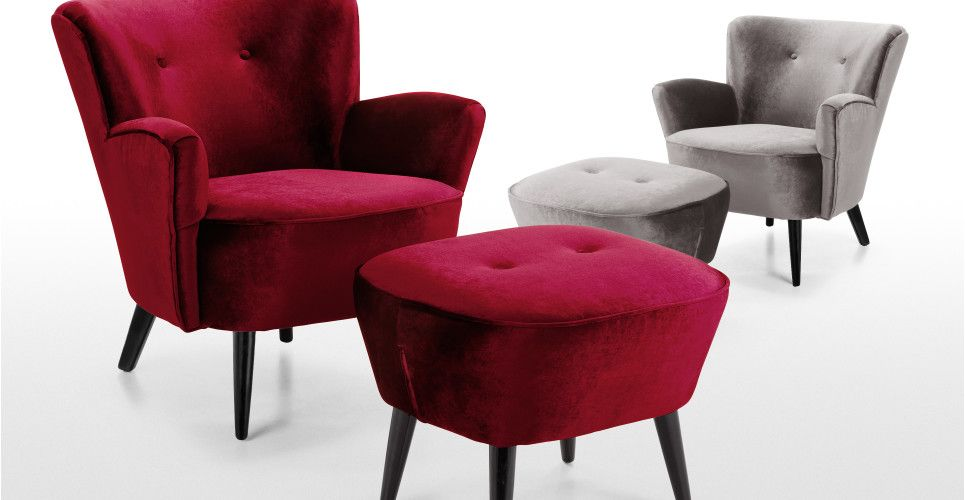 Lotus Armchair in crimson red | made.com