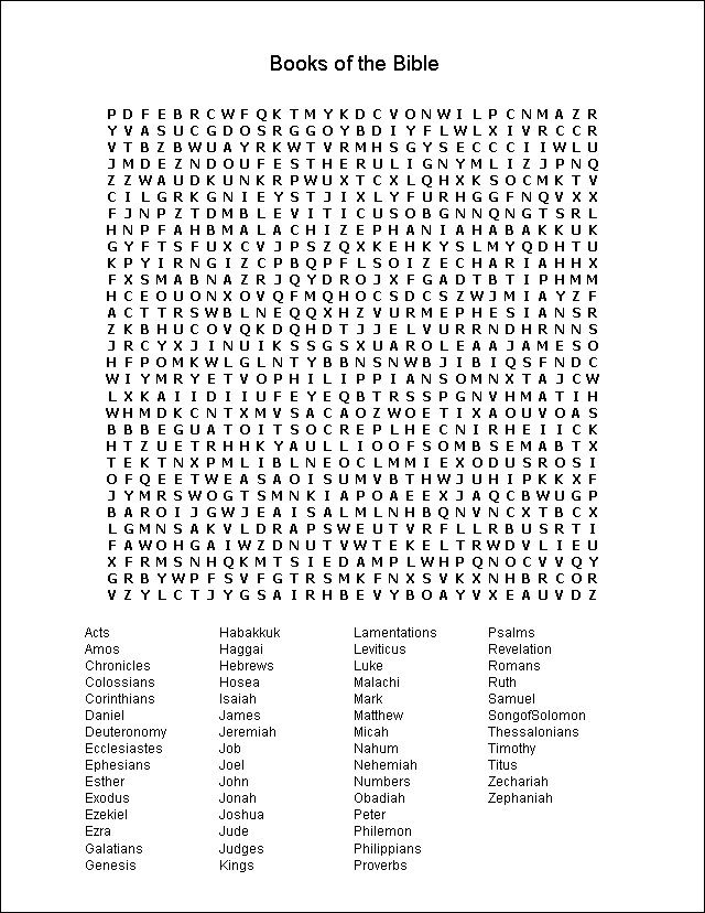 Punchy image within bible word search printable