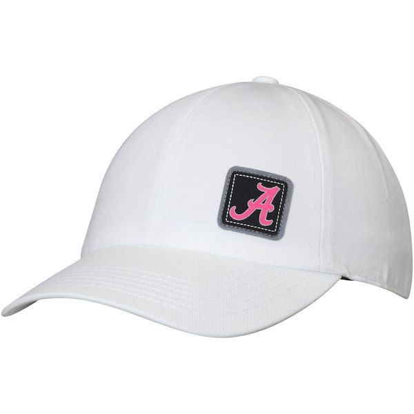 8731c96351b7d Alabama Crimson Tide Top of the World Women s Duplex Logo Patch Adjustable  Hat - White