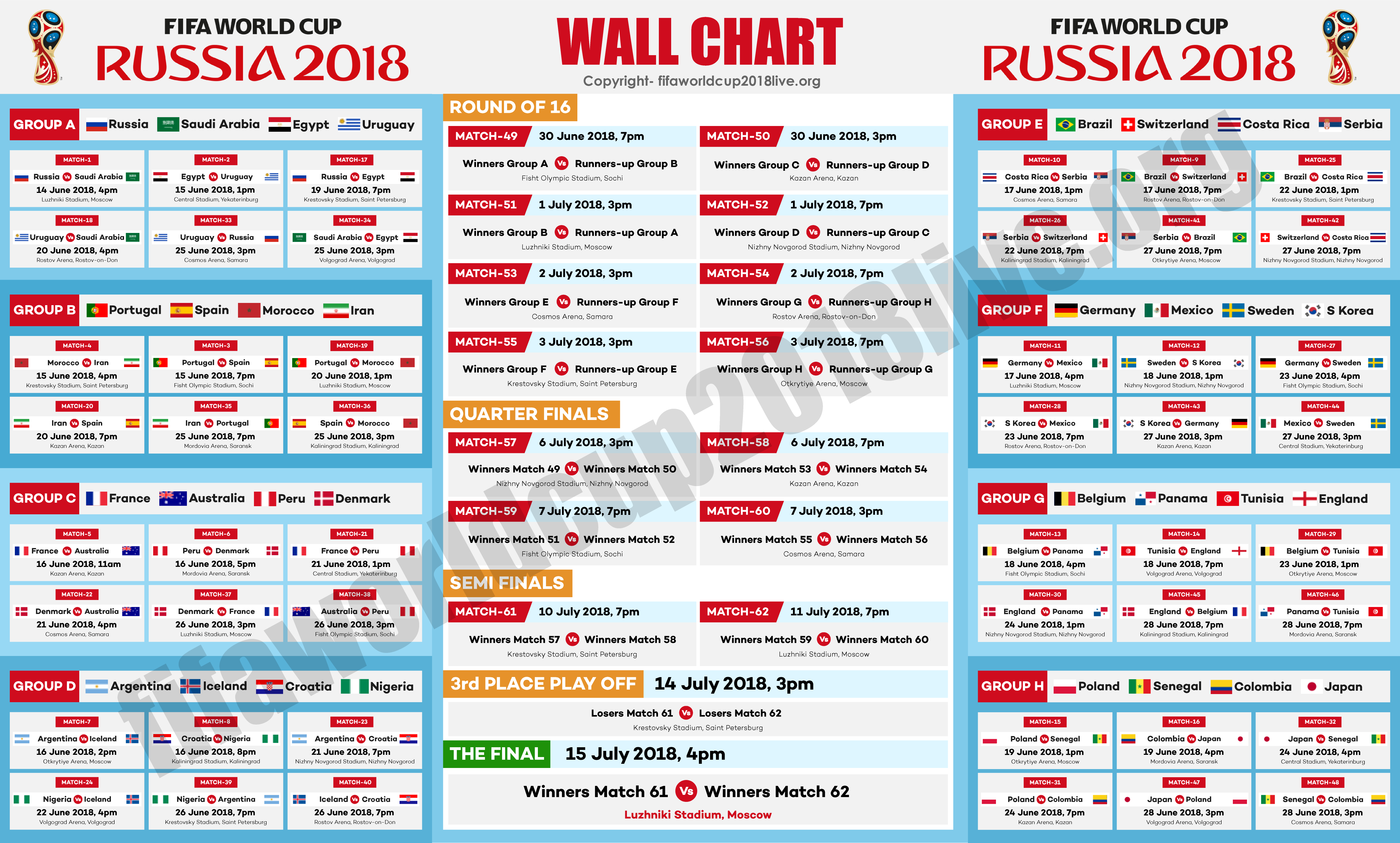 Fifa world cup is just months away and we have created fixtures wallchart for you with group venue details also free download here to keep track of rh pinterest