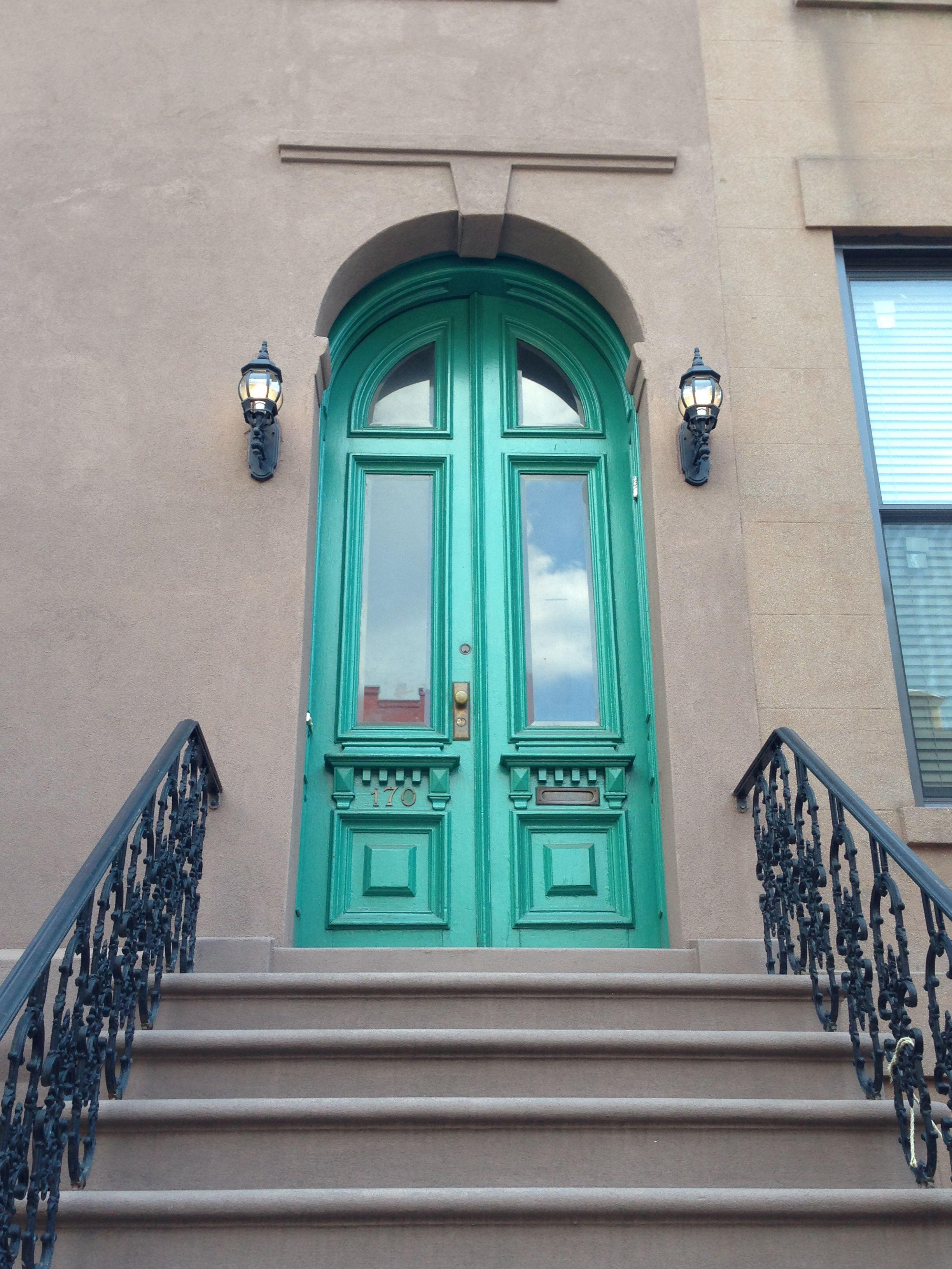 Brownstone Front Door Try Using Benjamin Moore Palm Coast Teal 733
