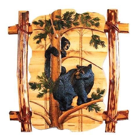 Image Detail For Black Bear Play Wood Art By Dl