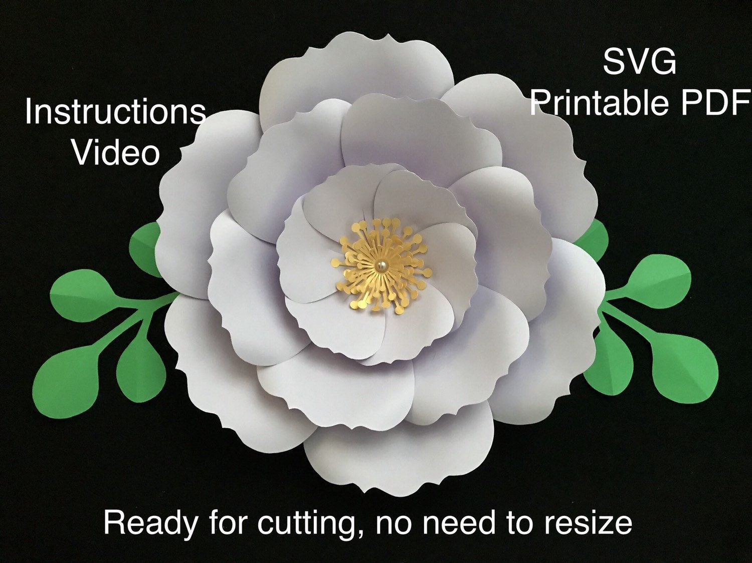 12 Free Rolled Flower Svg Templates Diy 3d Paper Flowers