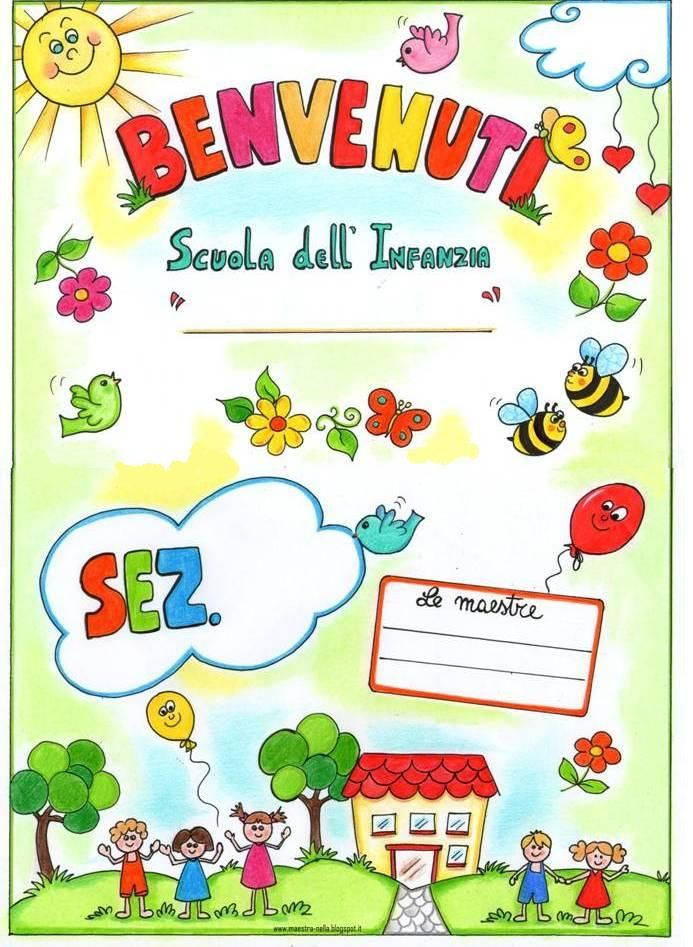 Disegni idee e lavoretti per la scuola dell 39 infanzia e for Cartelli per la porta dell aula da stampare