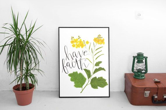 Check out this item in my Etsy shop https://www.etsy.com/listing/272093644/have-faith-wall-art-prints-wall-art #gallerywall #handmade #mustardseed #havefaith