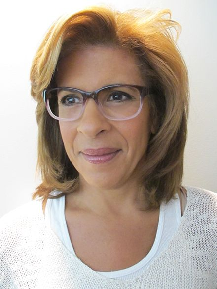 5582fefe93fb Today Show co-host Hoda Kotb in MarchoNYC optical style Mulberry ...