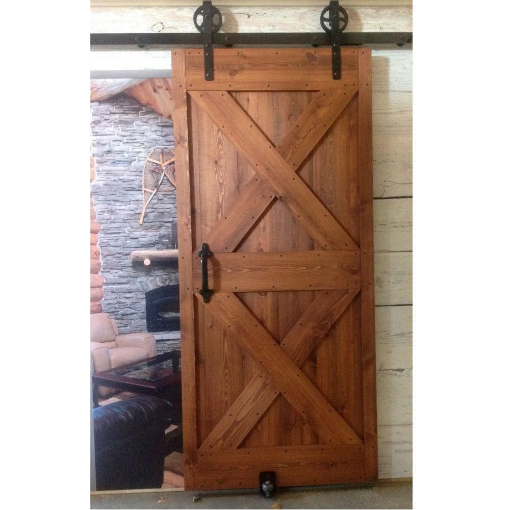 Quiet Glide 1 1 2 In X 40 In X 81 In Ready To Assemble Unfinished Pine Barn Interior Door Qgrta0040x81p With Images Barn Doors Sliding Wood Doors Interior Diy Barn Door