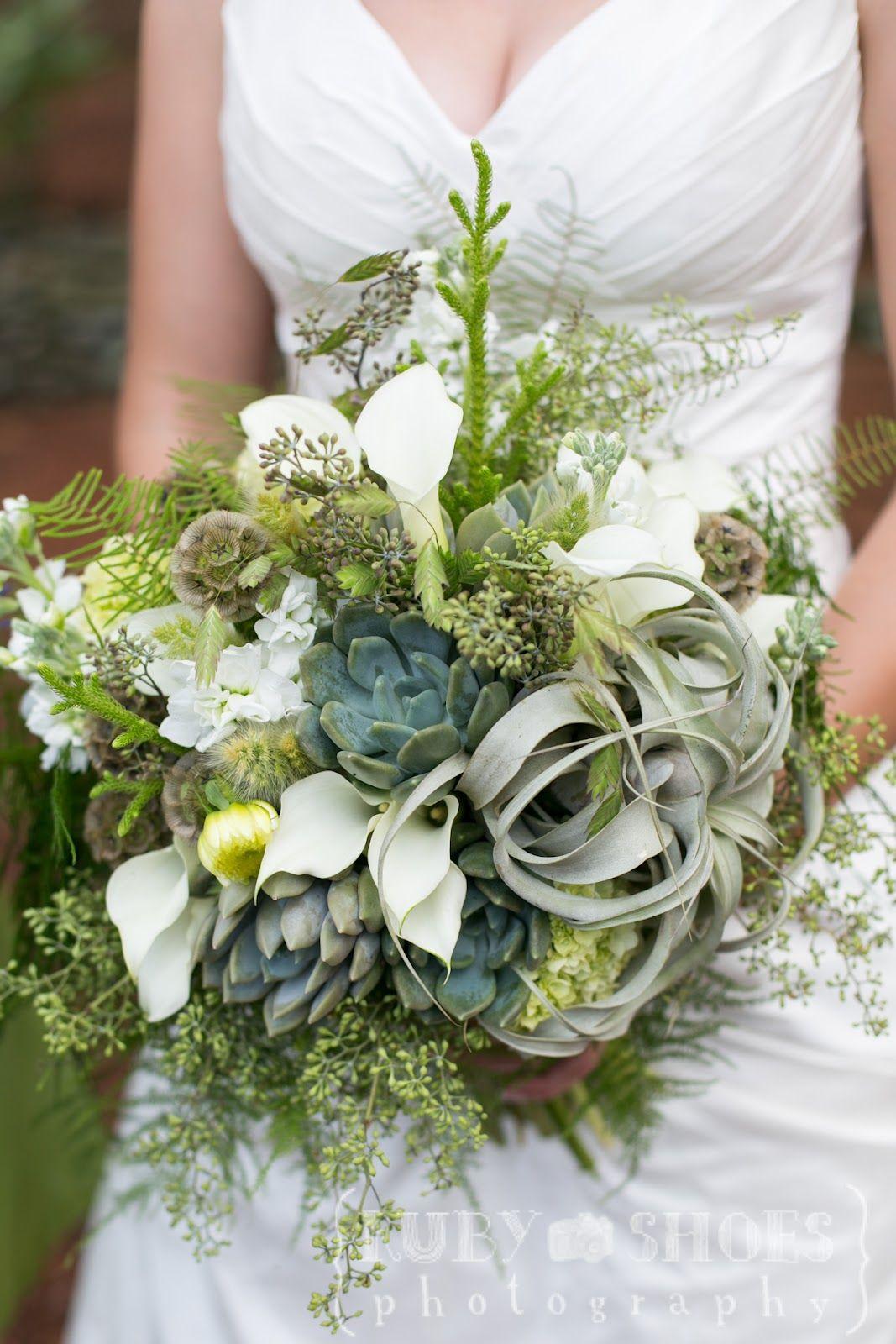 8b0d6b542d52b Succulent and tillandsia bridal bouquet -Seed to Stem- green ...