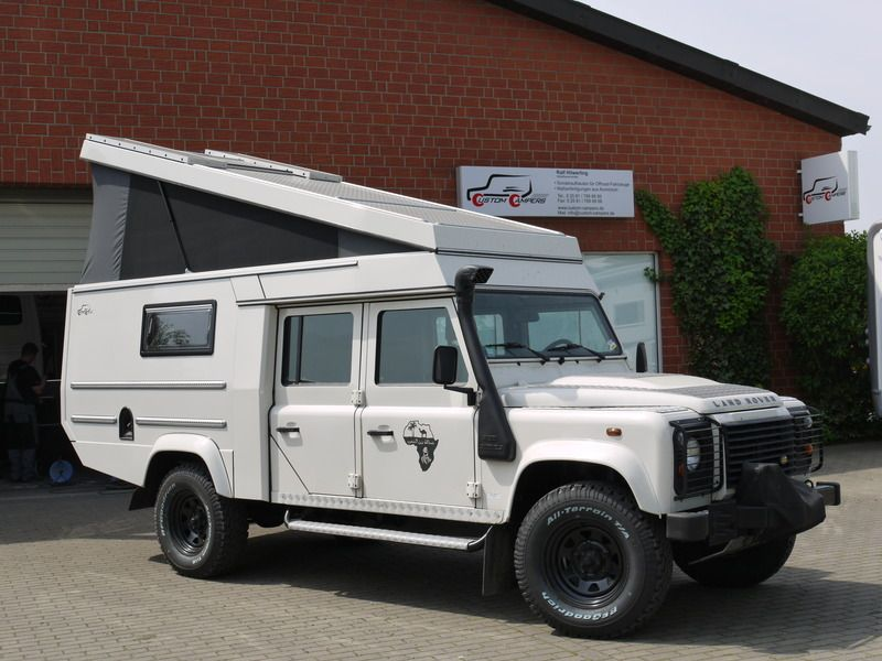 Custom Campers - Land Rover 130 Crew Cab | bugout wheels | Pinterest