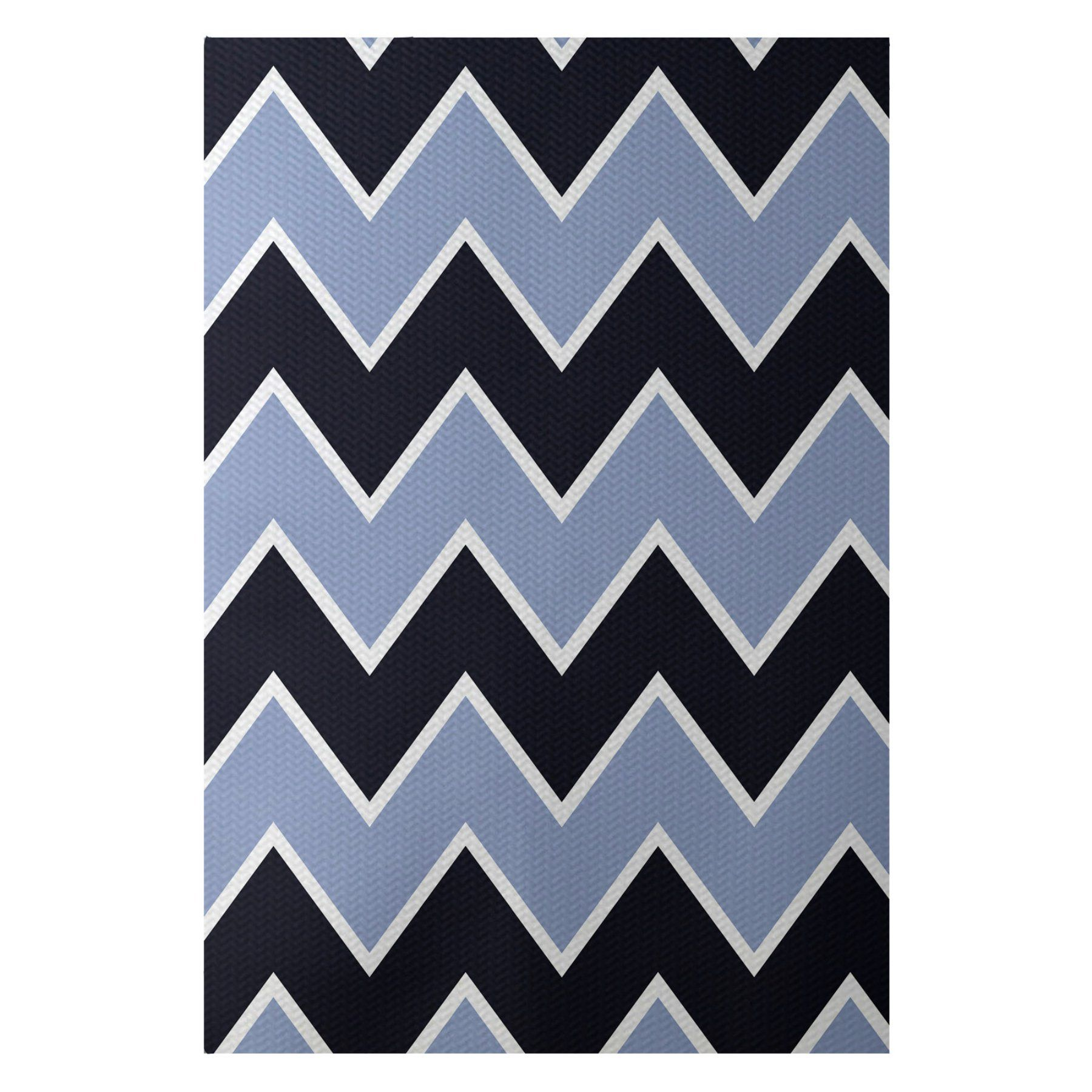E By Design Inside The Lines Chevron Indooroutdoor Rug