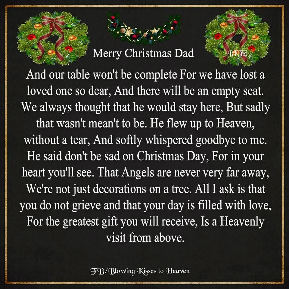 merry christmas dad - Merry Christmas In Heaven Dad